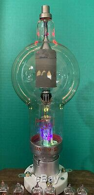 Nixie Horloge In-14 Tube. Steampunk. Radar Militaire Tube & Lit Vintage Navy Ampèremètre