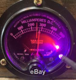 Nixie Horloge In-14 Tube. Steampunk. U. S. Marine, Western Electric 701a Radar Tube