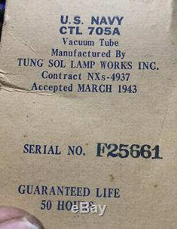 Nixie Horloge In-14 Tube. Steampunk. U. S. Seconde Guerre Mondiale Marine, Mars 1943 High Voltage Tube