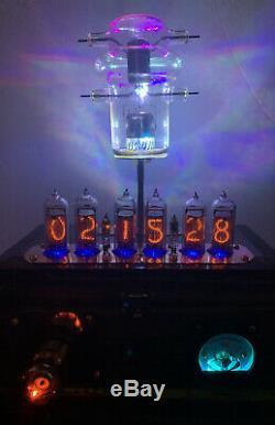 Nixie Horloge In-14 Tube. Steampunk Vintage Eimac Vt-127a Radar Tube Avec Decatron