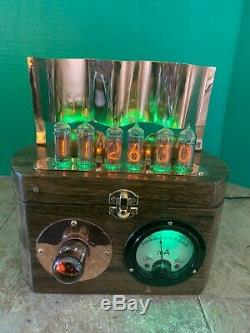 Nixie Horloge In-14 Tubes. Steampunk Cuivre, Laiton Et Verre! Vari Vitesse Dekatron