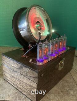 Nixie Horloge In-14 Tubes. Steampunk Cuivre, Laiton Et Verre! Vintage Frank S. Betz