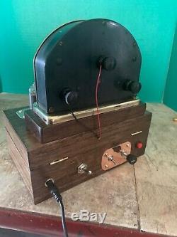 Nixie Horloge In-14 Tubes. Steampunk Cuivre, Laiton Et Verre! Weston 264 + Dekatron