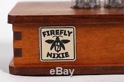 Nixie Horloge Tube In-14 Nixie Horloge Rétro Bureau Horloge De Table En Bois Firefly