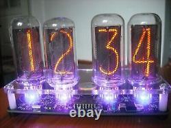 Nixie Horloge Tube Kit Avec In-18 Led Tube Rvb Rétro-éclairage Pcb Noir