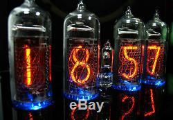 Nixie Horloge / Uhr Mit Vier In-14 Tubes / Röhren Alarme Und Glockenspiel