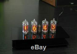 Nixie Horloge / Uhr Mit Vier Z570m Tubes / Röhren Alarme Und Glockenspiel