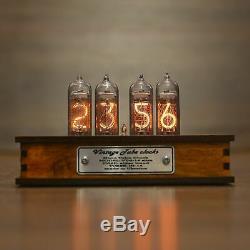 Nixie Röhren Uhr 4x In-14 Jahrgang Rétro Uhr Röhre Tischuhr Nixie Tube Clock