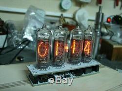 Nixie Tube Assemblé Horloge V2.3 Tube-14 Rétro-éclairage À Led, Aucun Cas