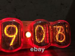 Nixie Tube Assembled Big Desk Clock And Calendar Vintage In-12 X 6 Russe