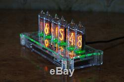 Nixie Tube Clock 6 In-14 Tubes Assemblé Acrylic Case Usb Powered