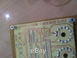 Nixie Tube Clock 6x Z566m Nixie Clock Métal / Chassi Bois
