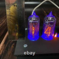 Nixie Tube Clock Avec Boîtier En Bois In-14 Tubes Vintage Livraison Gratuite Express
