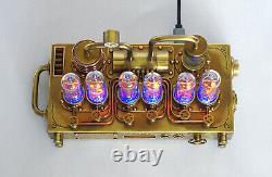 Nixie Tube Clock Illuminator Handmade In-14 Steampunk Style