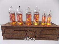 Nixie Tube Clock In-14 + In-16 Millésime Modèle Pulsar-new Rgb Rétro-éclairage