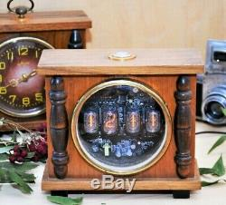 Nixie Tube Clock, Re-purposed Vintage Rétro Horloge De Bureau, Horloge De Table. Perestroïka