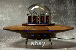 Nixie Tube Clock Ufo Style Vintage Tube In-14 In14 Desk Clock Rgb