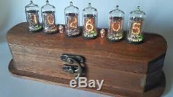 Nixie Tube Clock Vintage Z573 Z570 Rgb Horloge De Bureau Unique Télécommande Retro