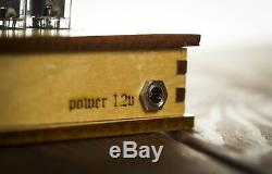 Nixie Tube Horloge 4x Z573m Nixie Horloge Vintage Rétro Table De Bureau Horloge Bois Cas