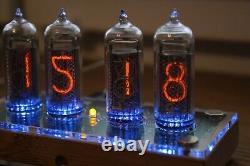 Nixie Tube Horloge Avec 4x In-14 Tubes En Bois Clair Température À Distance