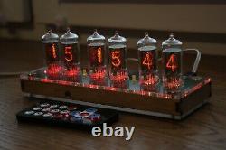 Nixie Tube Horloge Avec 6pcs Rft Z570m Tubes Transparents, Fine 5 Pas Upside Down 2