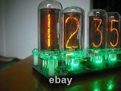 Nixie Tube Horloge Avec In-18 Tube Led Rgb Rétroéclairage Noir Pcb
