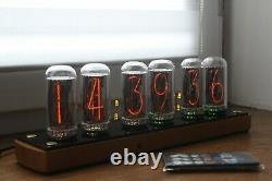 Nixie Tube Horloge Comprennent In-18 Tubes Et Chêne En Bois Cas Rétro Vintage