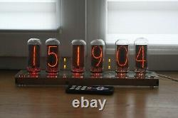 Nixie Tube Horloge Comprennent In-18 Tubes Et Contreplaqué Cas Transparent Rétro Vintage