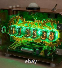Nixie Tube Steampunk Ordinateur De Bureau Réveil Handmade Vintage Retro Fallout Cadeau