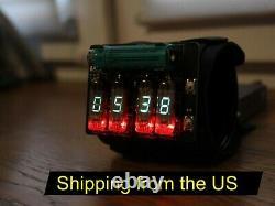 Nixie Tube Vfd Era Wrist Watch Clock Fondé Sur Iv-3 Date Affichage De La Température