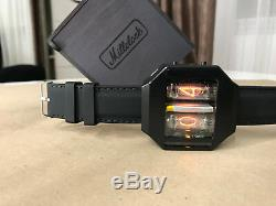 Nixie Tube Watch V1.0 Étui En Aluminium Anodisé Noir Steampunk Avec Chargeur Usb