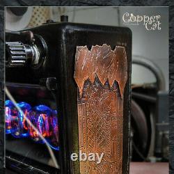 Nixie Tubes Réveil 6 In-12 Anthracite De Copper Cat Art Group Steampunk