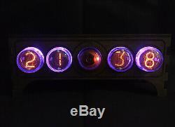 Nixie Vintage Tube Clock Pulsar In-4 + Decatron Og4 Usb