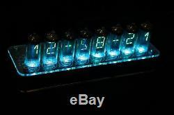 Nixt Clock 100% Assemblé Iv-17 Vfd Tube Clock Texte De Défilement Gps Époque Nixie
