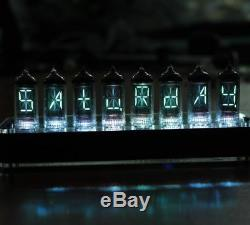 Nixt Horloge 100% Assemblé Iv-17 Vfd Tube Horloge Scrolling Texte Ère Nixie