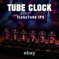 Nouveau Elekstube Ips 10 Bit Rgb Nixie Tube Glows Electronic Digital Led Desk Clock