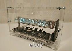 Nouvelle Horloge À Tube Nixie Faite À La Main Iv-18 Vfd Horloge Tube De Glace Adafruit