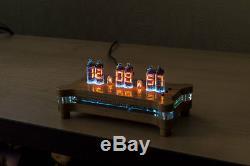 Numitron Horloge De Bureau Avec Iv-9 Tubes + Télécommande + Rgb + Cas + Puissance Nixie Era