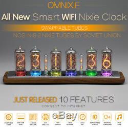 Omnixie Horloge Nixie, Wifi Temps De Synchronisation, Caisse En Bois, Installation Via Iphone Android Pc Mac