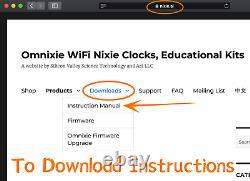 Omnixie Plus Nixie Tube Clock In18 Z566m Wifi Synchronisation Temps De Mise En Scène De Boîtier En Bois Avec Téléphone