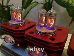 Original Monjibox Nixie Clock Red Vruuum Avec Tubes In14