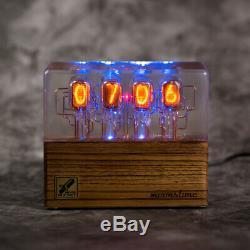 Prime Nixie Tube Clock In-12 Retro Vintage. Zebrano. Meilleur Cadeau