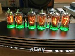 Pve Qtc + Nixie Tube Clock Britannique Zm1080 Tubes En Alliage Noir Cas + Alimentation (horloge J)