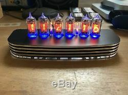Pve Qtc + Nixie Tube Clock + V-rare Tesla Zm1082t Tubes En Alliage Noir Cas + Alimentation (a)