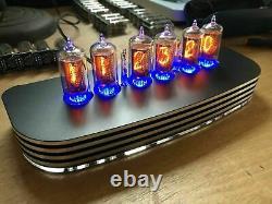 Qtc+ Nixie Tube Clock+ Allemand Zm1080 Tubes +black/silver Alloy Case +psu. (1of2)