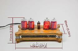 Queen Numitron Desk Horloge Iv-13 Tubes De Filament Russe Soviétique Urss Nixie Era