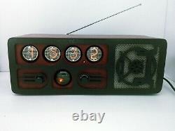 Radio D'horloge De Tube De Nixie Avec Dekatron, Bluetooth, Aux, Fm