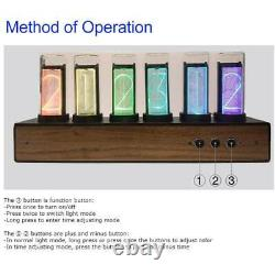 Réglable 7 Modes Led Digital Rgb Glow Tube Clock Nixie Clock Electronic Clock