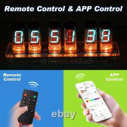 Rétro Desk 6× Iv-11 (-11) Nixie Tube Vfd Réveil Avec Bluetooth App Control
