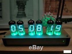 Retro Nixie Tube Clock Sur Tubes Soviétique Vintage Hand Made Meilleur Cadeau Avec Des Tubes